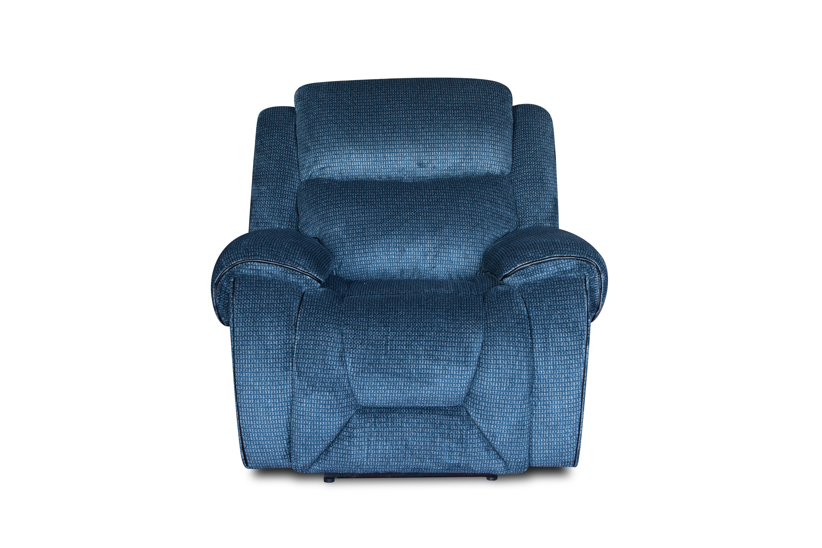 Simple style modern blue fabric 3+2+1 recliner sofa