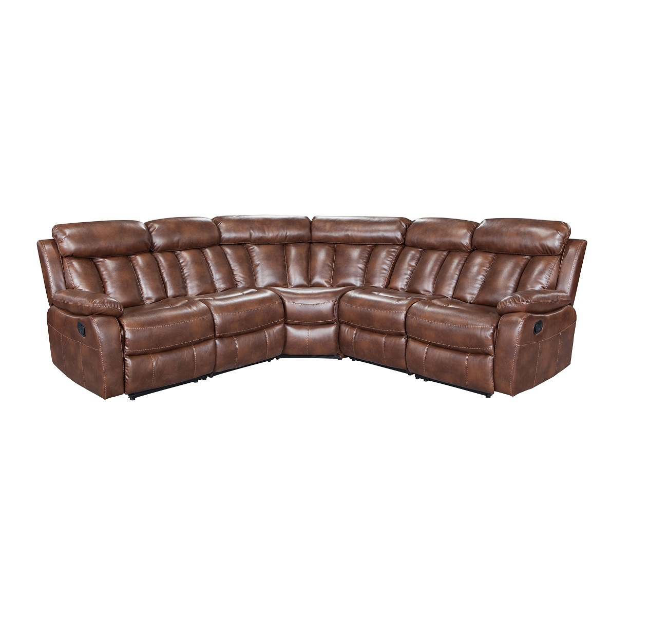 Living room furniture 5 seater italian leather sectional sofa set