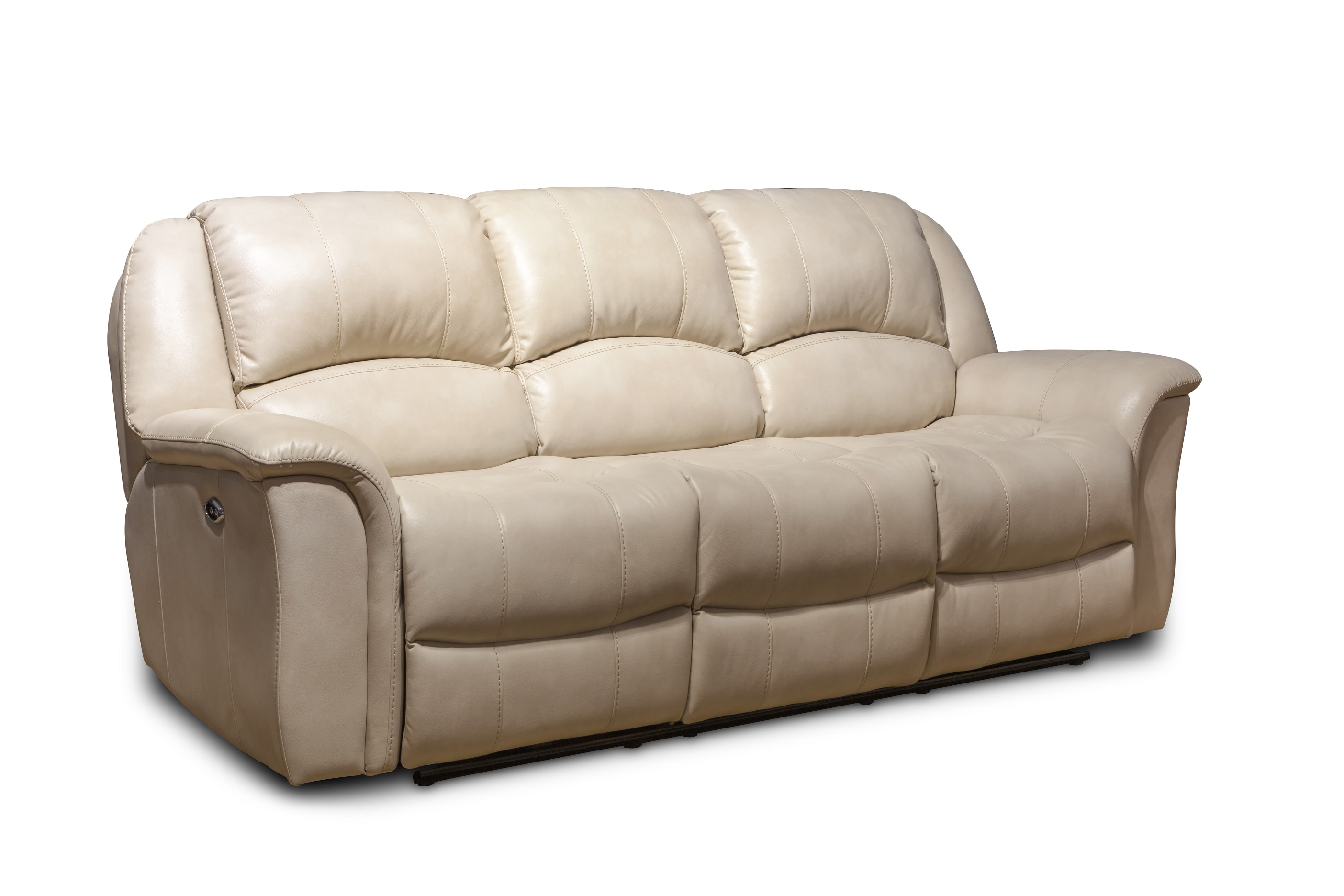 Modern simple style beige electric leather sofa recliner